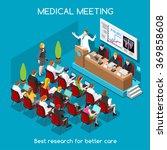 isometric medical doctor event... | Shutterstock .eps vector #369858608