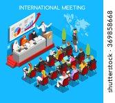 worldwide convention center... | Shutterstock .eps vector #369858668