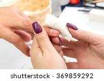 construction gel nails beautiful | Shutterstock . vector #369859292
