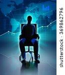 silhouette of a businessman... | Shutterstock . vector #369862796
