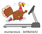 smiling turkey cartoon... | Shutterstock .eps vector #369865652