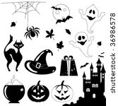 halloween elements   jack o'... | Shutterstock .eps vector #36986578