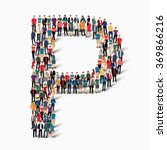 a large group of people in the... | Shutterstock .eps vector #369866216