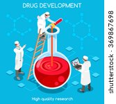 pharmaceutic industry bio lab... | Shutterstock .eps vector #369867698