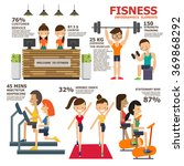 fitness infographics elements.... | Shutterstock .eps vector #369868292