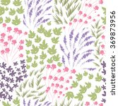 floral peony and lavender retro ...   Shutterstock .eps vector #369873956