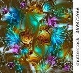 seamless pattern. flowers drawn ... | Shutterstock . vector #369875966