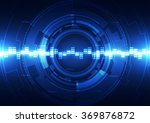 abstract futuristic digital... | Shutterstock .eps vector #369876872