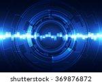 abstract futuristic digital...   Shutterstock .eps vector #369876872