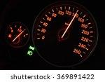Close Up Of Modern Speedometer...