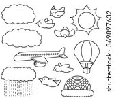 vector set of things in the sky | Shutterstock .eps vector #369897632