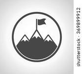 icon flag on mountain | Shutterstock .eps vector #369899912