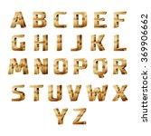 golden 3d alphabet | Shutterstock .eps vector #369906662