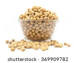Dried Soybean On Glass Cup...