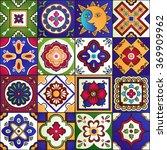 talavera set of 16 mexican...   Shutterstock .eps vector #369909962