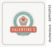 valentines day greeting card or ... | Shutterstock .eps vector #369910925