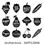 vector fruit and vegetables logo | Shutterstock .eps vector #369912848