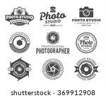 vector photography logo | Shutterstock .eps vector #369912908