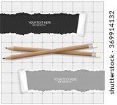 paper with pencils   Shutterstock .eps vector #369914132