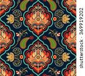 floral seamless pattern. green... | Shutterstock .eps vector #369919202