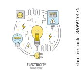 electricity and energy round... | Shutterstock .eps vector #369919475