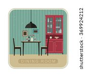 interior of dining room with... | Shutterstock .eps vector #369924212
