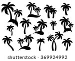 Vector Palm Tree Silhouette...