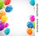 color glossy balloons...   Shutterstock .eps vector #369926438
