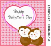 happy valentine's day greeting... | Shutterstock .eps vector #369928895