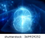 glowing magical sphere in space ... | Shutterstock . vector #369929252