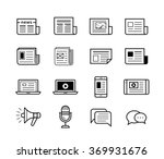 News Publish Media Icons....