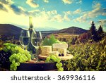 white wine with barrel on... | Shutterstock . vector #369936116