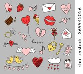 icons happy valentine's day.... | Shutterstock .eps vector #369945056