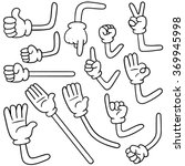 vector set of cartoon arm | Shutterstock .eps vector #369945998