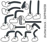 vector set of cartoon leg | Shutterstock .eps vector #369946058