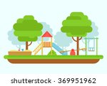 Kids Playground Vector...