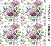 seamless pattern with a bouquet ... | Shutterstock .eps vector #369964112