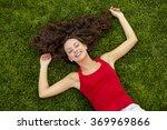 outdoor portrait of a beautiful ... | Shutterstock . vector #369969866