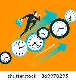faster than time. push forward. ... | Shutterstock .eps vector #369970295