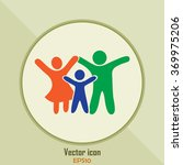happy family icon in simple... | Shutterstock .eps vector #369975206