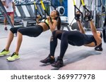 woman exercising with... | Shutterstock . vector #369977978