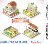 isometric building ancient rome ... | Shutterstock .eps vector #369980852