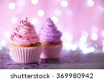 Two Cupcakes On A Glitter...