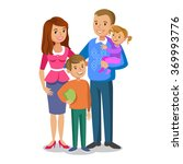 happy family portrait  smiling... | Shutterstock . vector #369993776
