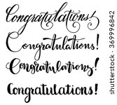 congratulations collection.... | Shutterstock .eps vector #369996842