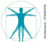 leonardo da vinci vetruvian man ... | Shutterstock .eps vector #370002392