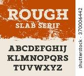 grunge font. retro alphabet in... | Shutterstock .eps vector #370006442