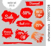 blots  stains to label ... | Shutterstock .eps vector #370007228