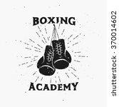 boxing academy emblem .vintage... | Shutterstock .eps vector #370014602