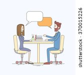 business people man and woman... | Shutterstock .eps vector #370015226